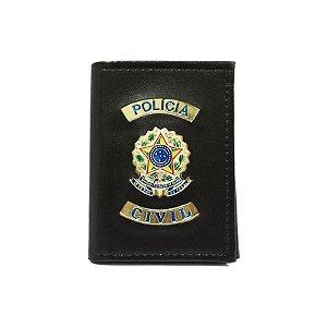 Carteira Polícia Civil Com Distintivo e Porta Funcional