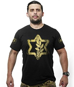 Camiseta Militar Israel Defense Gold Line