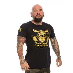 Camiseta Militar Bombeiros Vidas Alheias Riquezas a Salvar Gold Line