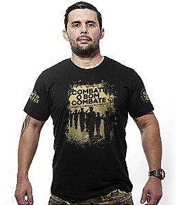 Camiseta Militar Honor Combati o Bom Combate Gold Line