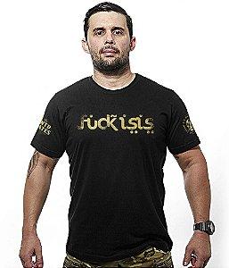 Camiseta Militar Fuck ISIS Gold Line