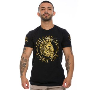 Camiseta Militar Molon Labe Come and Take Gold Line