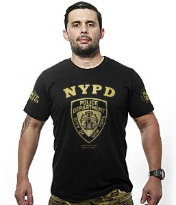 Camiseta Militar New York City Police Department NYPD Gold Line