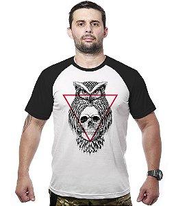 Camiseta Raglan Skull owl