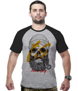 Camiseta Raglan Skull Beard Gang