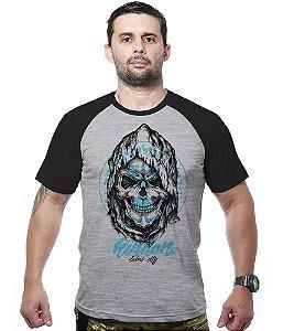 Camiseta Raglan Mossad Kingdom Skull
