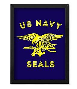 Poster Militar com Moldura Navy Seals