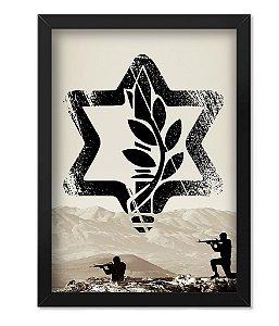 Poster Militar com Moldura Israel Defense