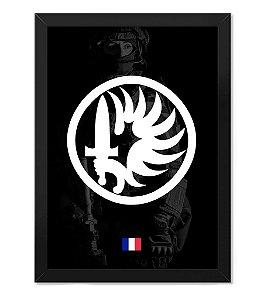 Poster Militar com Moldura Legião Estrangeira