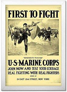 Poster Militar com Moldura Marine Corps