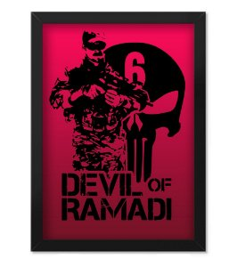 Poster Militar com Moldura Devil of Ramadi
