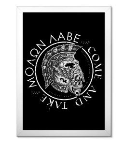Poster Militar com Moldura Molam Labe Come and Take