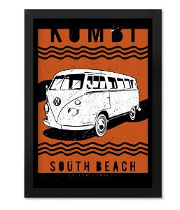 Poster com Moldura KOMBI South Beach