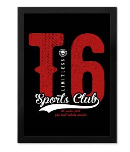 Poster com Moldura T6 Limitless Sports Club