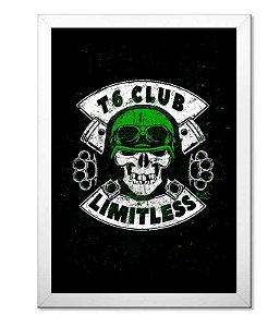 Poster com Moldura T6 Club Limitless Skull