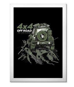 Poster com Moldura Off Road Green 4x4