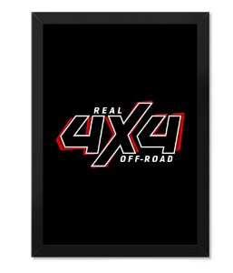 Poster com Moldura Real Off Road 4x4