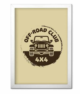 Poster com Moldura Off Road Club