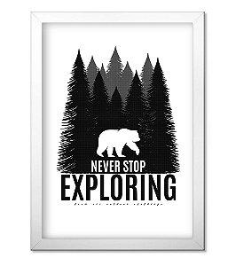 Poster com Moldura Outdoor Never Stop Exploring
