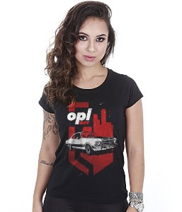 Camiseta Old Cars Baby Look Feminina Opala SS