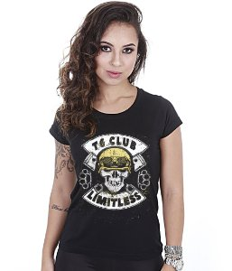 Camiseta Motorcycle Baby Look Feminina T6 Club Limitless