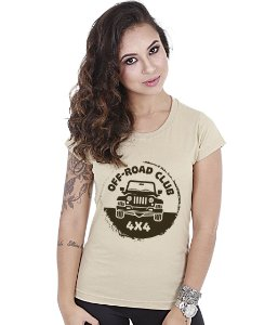 Camiseta Off Road Baby Look Feminina Club 4x4