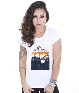 Camiseta Outdoor Baby Look Feminina Camping Wild Life