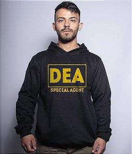 Casaco Militar Com Capuz DEA Special Agent