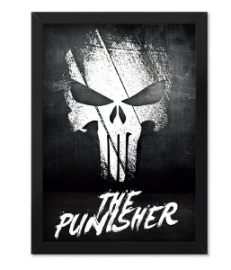 Poster Militar com Moldura The Punisher