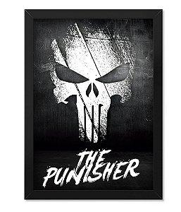 Poster Militar com Moldura The Punisher