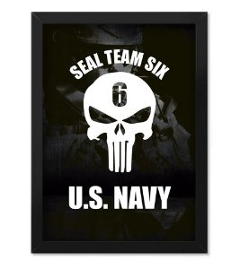 Poster Militar com Moldura The Punisher Seal Team