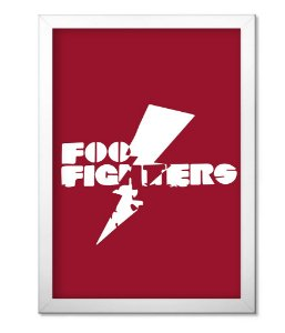 Poster com Moldura Foo Fighters