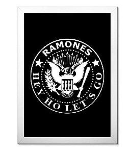 Poster com Moldura Ramones