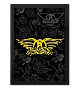 Poster com Moldura Banda Aerosmith