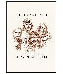 Poster minimalista Black Sabbath