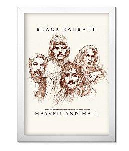 Poster com Moldura Banda Black Sabbath