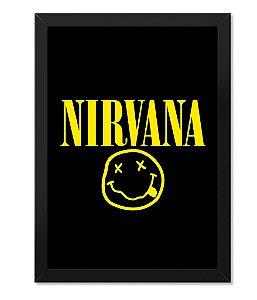 Poster com Moldura Nirvana