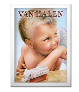 Poster com Moldura Van Halen