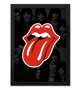 Poster com Moldura The Rolling Stones