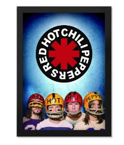Poster com Moldura Banda Red Hot Chili Peppers
