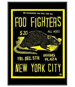 Poster Minimalista Banda Foo Fighters