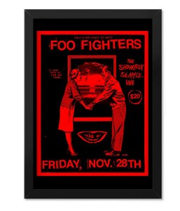 Poster com Moldura Rock Foo Fighters