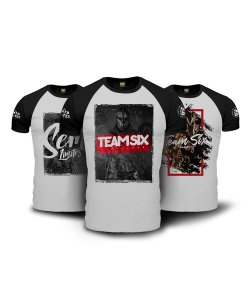 Kit Limitless 3 Camisetas Raglan Militares Team Six