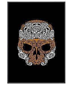 Poster Minimalista Outdoor Golden Skull