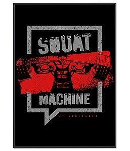 Poster Academia Squat Machine