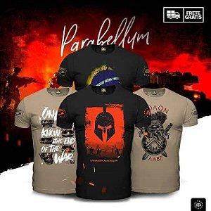 Kit 4 Camisetas Masculinas Militares com Estampa Parabellum
