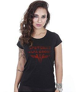 Camiseta Militar Baby Look Feminina Spetsnaz