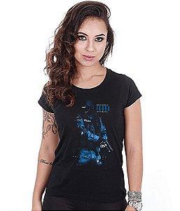 Camiseta Militar Baby Look Feminina Debaixo Daquela Farda Existe Uma Vida