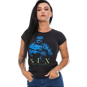 Camiseta Militar Baby Look Feminina Beard Gang