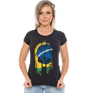 Camiseta Militar Baby Look Feminina Si Vis Pacem Para Bellum Brasil